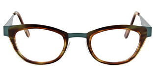 Anne&valentin Fairy size 45 Tortoise and Green Temples Clear Demo Lens